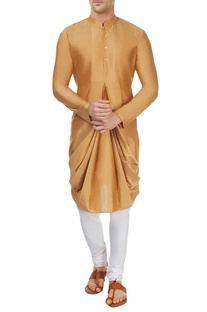 Brown cowl kurta