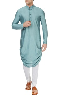 Ice blue draped kurta