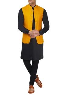 Mango yellow bandi jacket