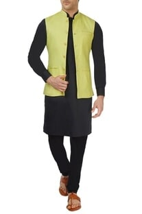Pastel green bandi jacket