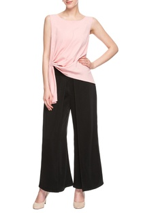 Pink draped pleated top