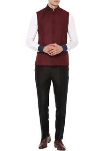 Wine Nehru jacket