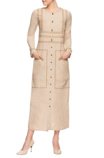 Beige lurex dress