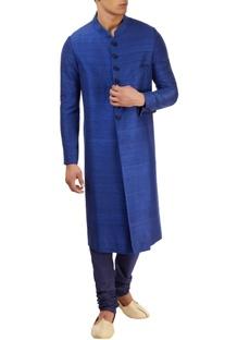 Royal blue sherwani set