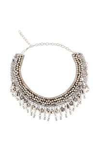 Silver studded necklace