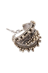 Silver studded chained bracelet