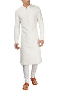 Ivory embroidered kurta & churidar