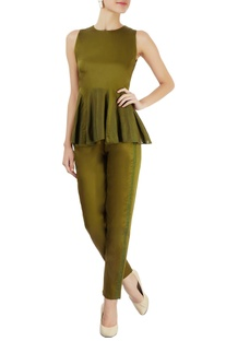 Military green paneled top