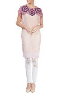Pink & beige printed tunic