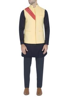 Yellow waistcoat with drape detail