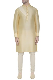 Butter yellow silk kurta