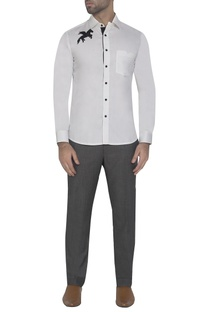 White shirt with embroidered detail