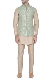 Pastel blue silk waistcoat