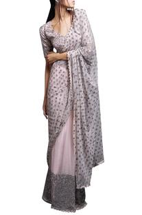 Pastel pink sari & blouse