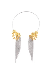 Gold & silver necklace with tassels
