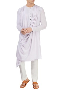 Light grey cowl kurta