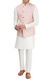Light pink embroidered jacket