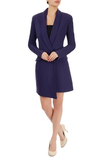 Navy blue blazer dress
