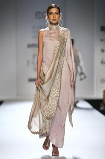 Silver maxi sari