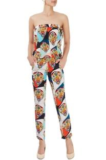 Multi-colored tube jumpsuit