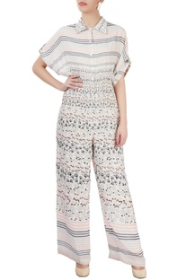 White printed jumpsuit