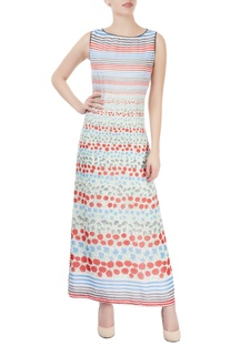 White maxi with floral print
