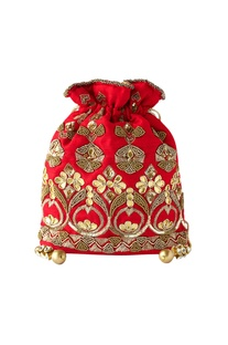 Red potli with gota work