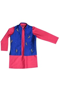 Pink kurta with jacket