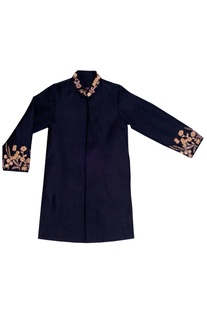 Black sherwani with gold embellishments