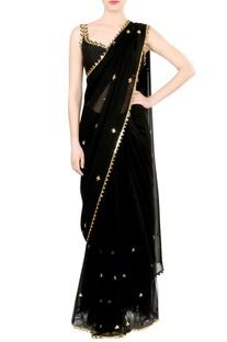 Black embellished blouse & sari