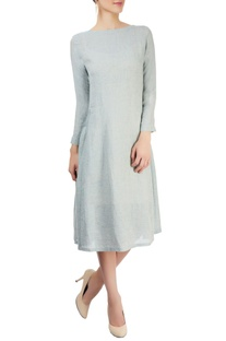 Blue dress with tucks