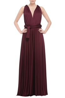 Wine cross back gown