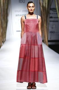 Multi colored printed strappy dress