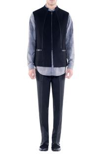 Black jacket with zipper