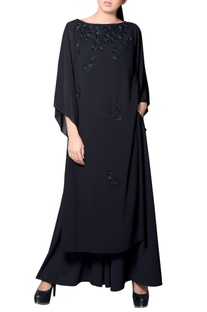 Black kurta with sequins embroidery