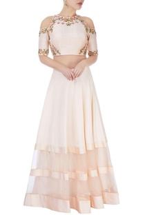 Pastel pink skirt set