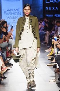 Olive green khadi jacket