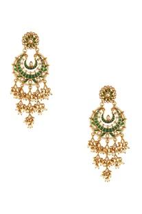 Green kundan chaandbaalis