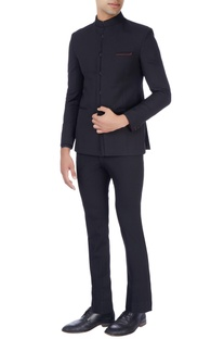 Black bandhgala suit