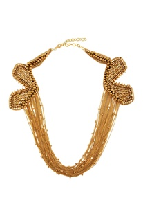 Gold plated multiple chain necklace