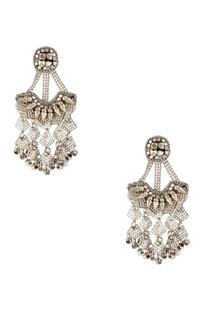 Silver plated dangler earrings