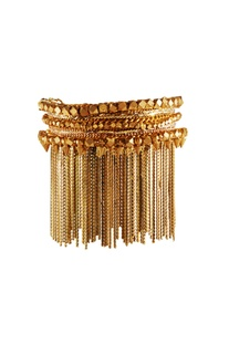 Gold plated fringe bracelet