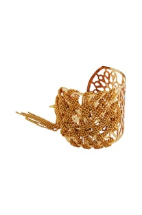 Gold plated openwork bangle