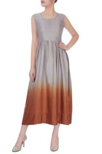 Grey & orange shaded dress
