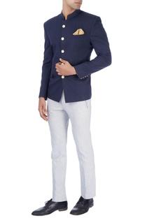 Navy blue bandhgala & trousers