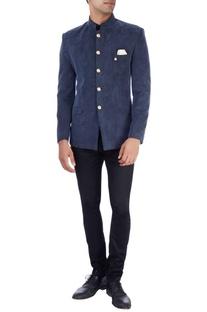 Navy blue bandhgala jacket & trousers