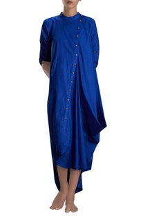 Royal blue asymmetric maxi dress