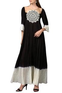 Black & white chakra maxi dress
