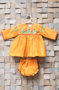 Orange frock & bloomers