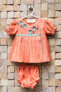 Peach mouse frock & bloomers